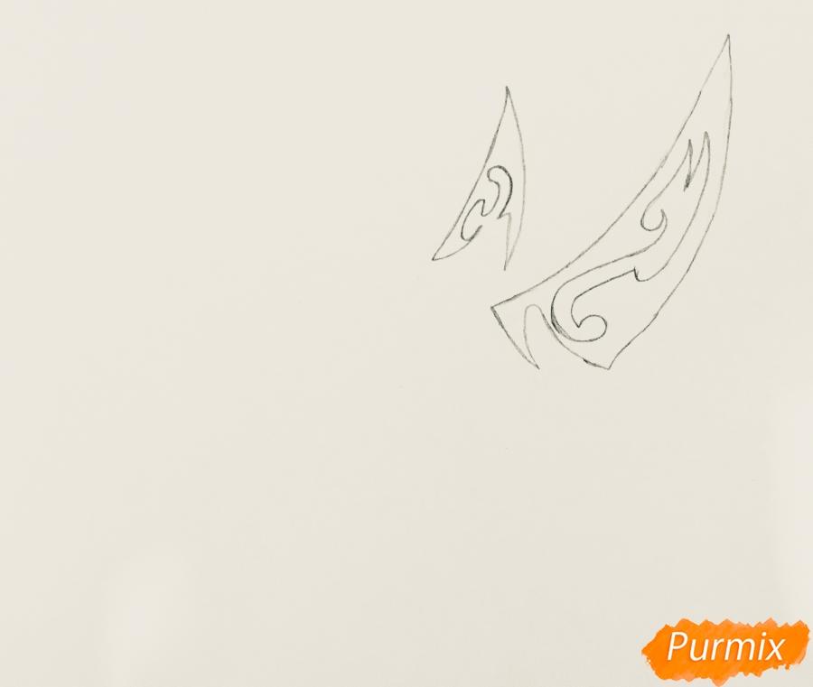 Рисуем носорога в стиле тату - шаг 1