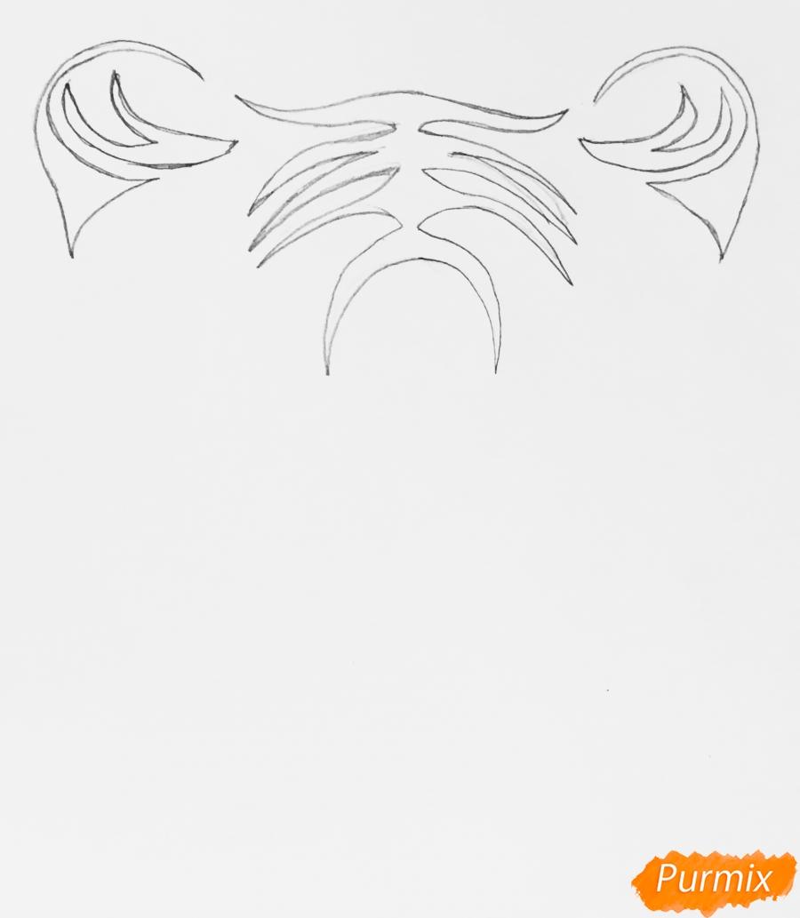 Рисуем тигра в стиле тату - шаг 1