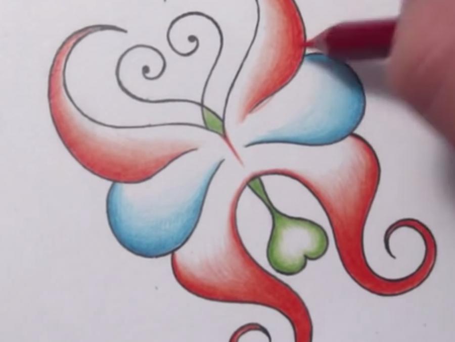 Рисуем абстрактную бабочку - фото 5