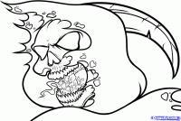 голову смерти с косой карандашом