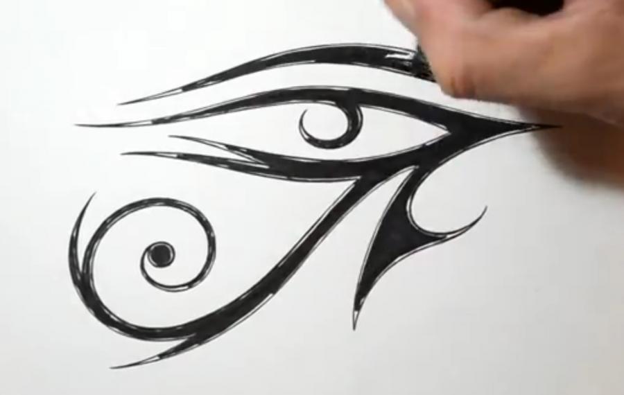 Рисуем Око Ра (Глаз Ра) в стиле тату