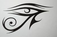 Око Ра (Глаз Ра) в стиле тату