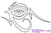 Племенной египетских глаз карандашом
