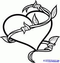 сердце обмотанное  колючей проволокой