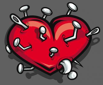 Как нарисовать сердце пронзенное ...