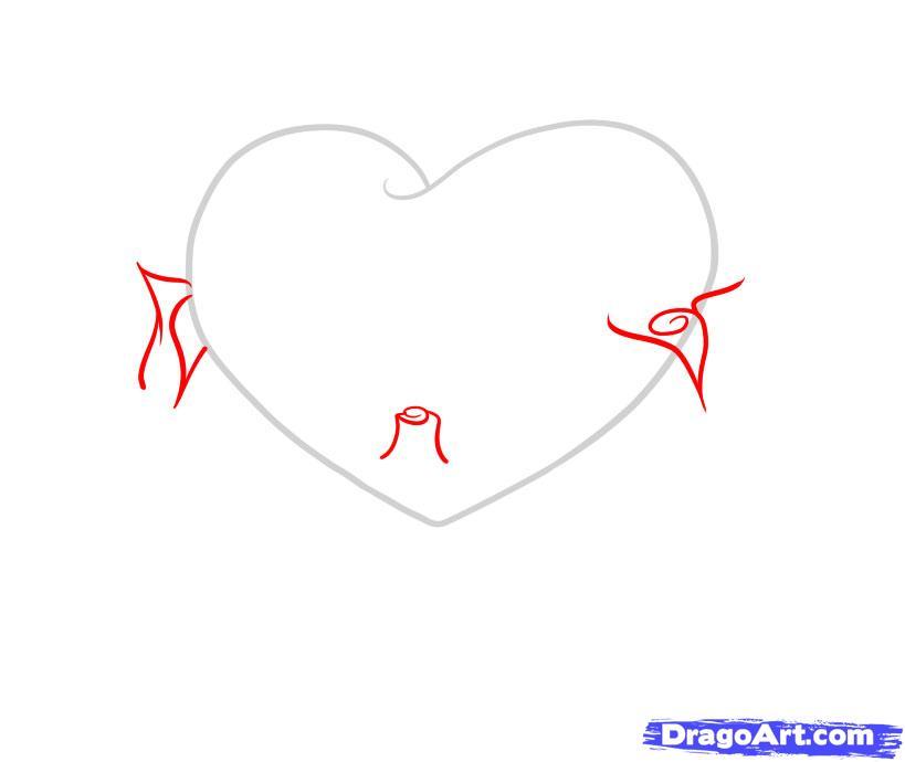 Рисуем сердце с розами