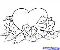 Фотография сердце с розами