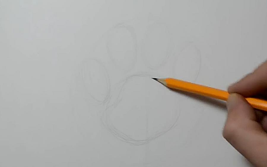 Рисуем след собаки в стиле тату