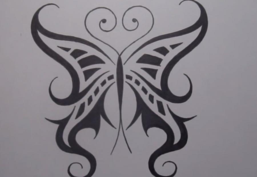 Рисуем татуировку бабочка - шаг 8