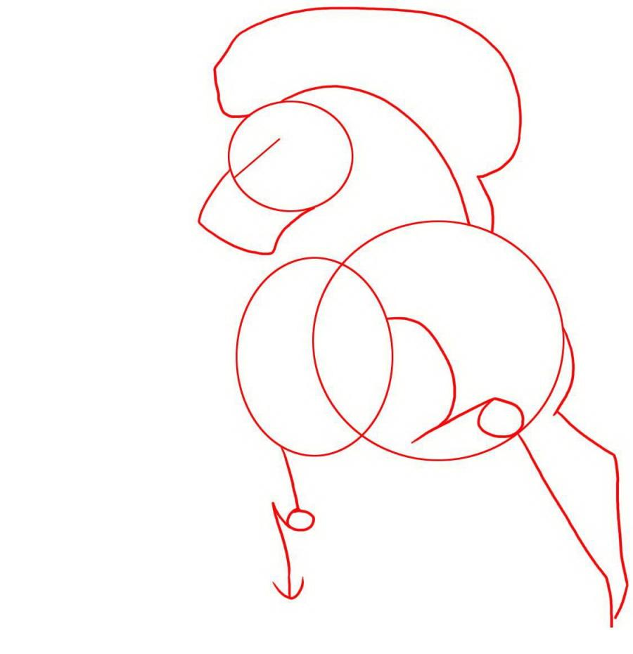 Рисуем татуировку боевого коня - шаг 1