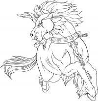 Фото татуировку боевого коня карандашом