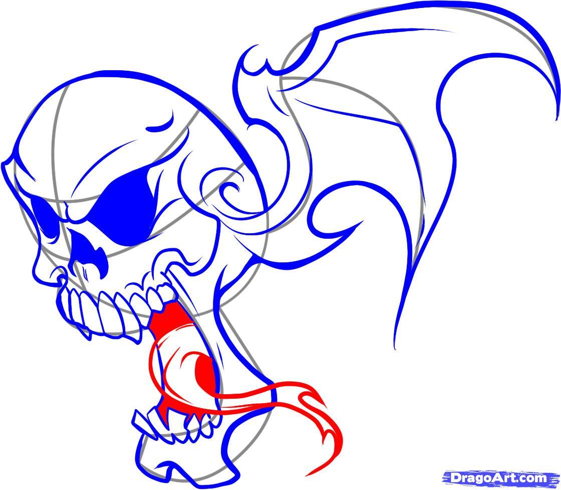 Рисуем череп в пламени - шаг 6