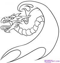 Фото татуировку дракона карандашом