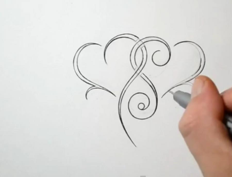 Рисуем тату с карандашом
