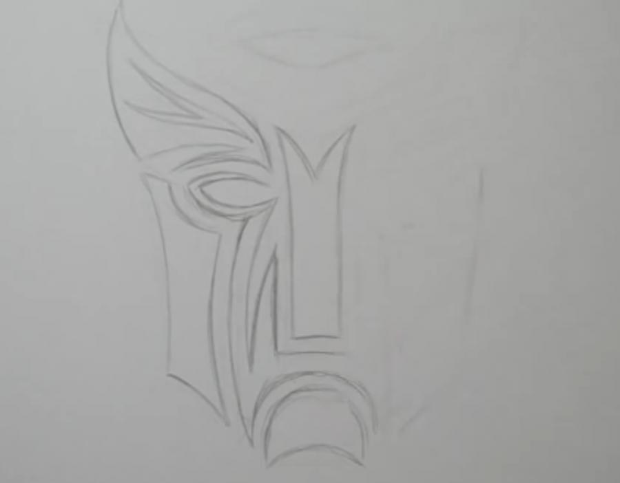 Рисуем татуировку логотип трансформеров