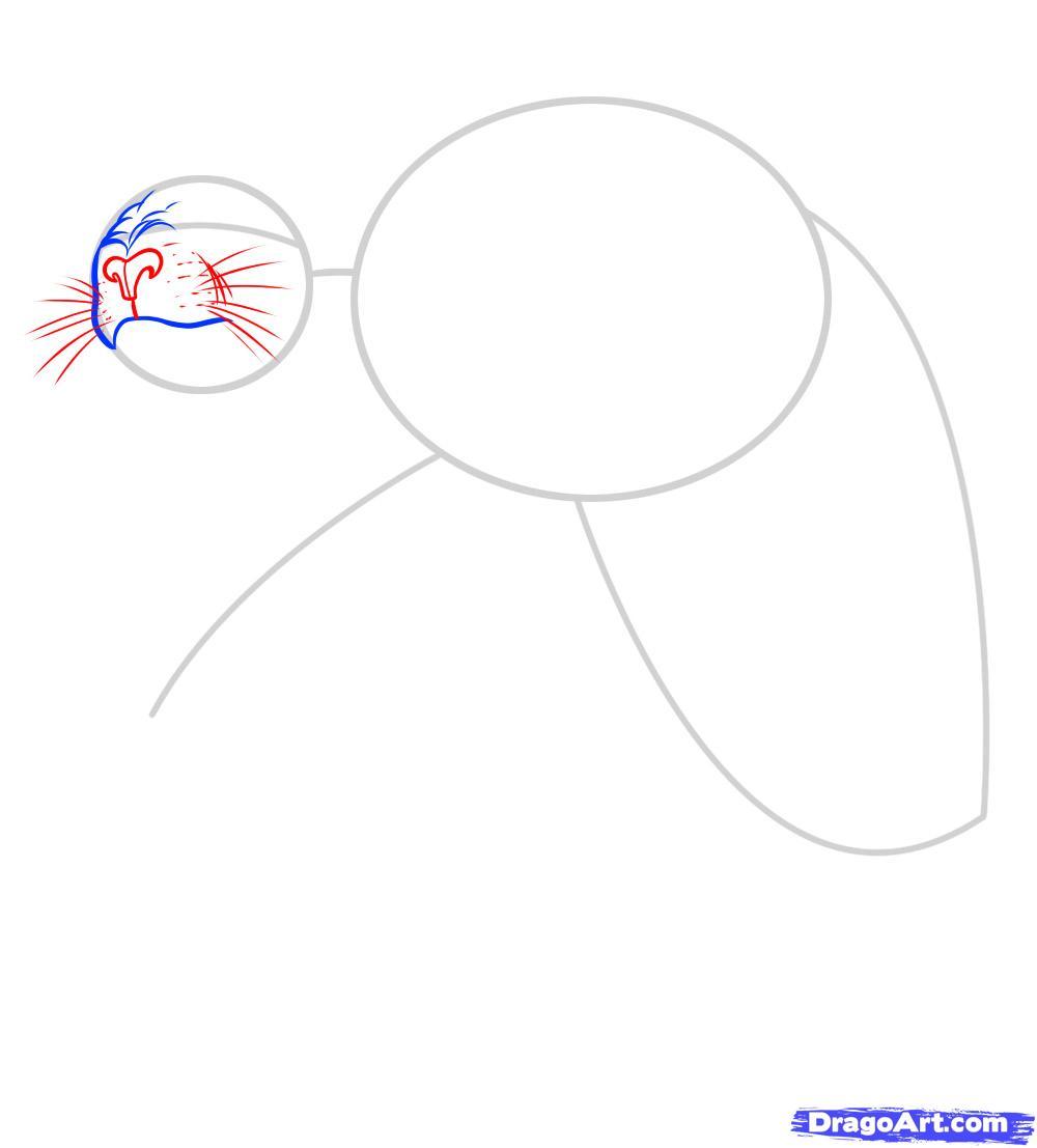 Рисуем татуировку льва - фото 3