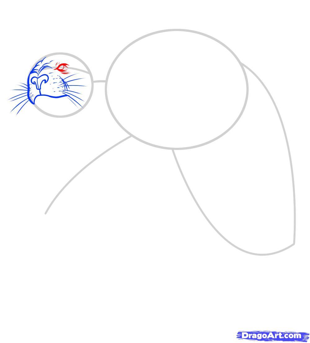 Рисуем татуировку льва - фото 4