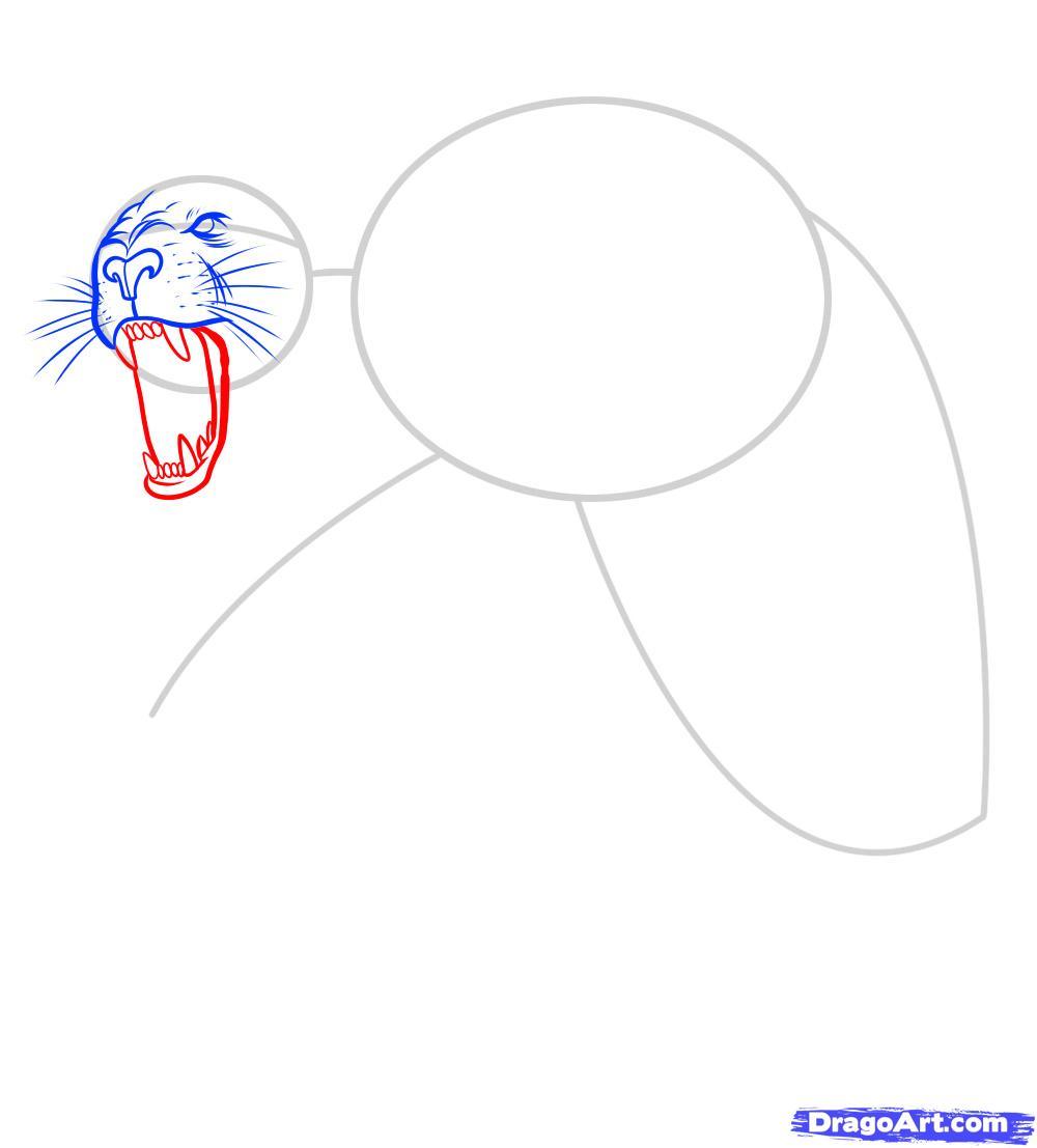 Рисуем татуировку льва - фото 5