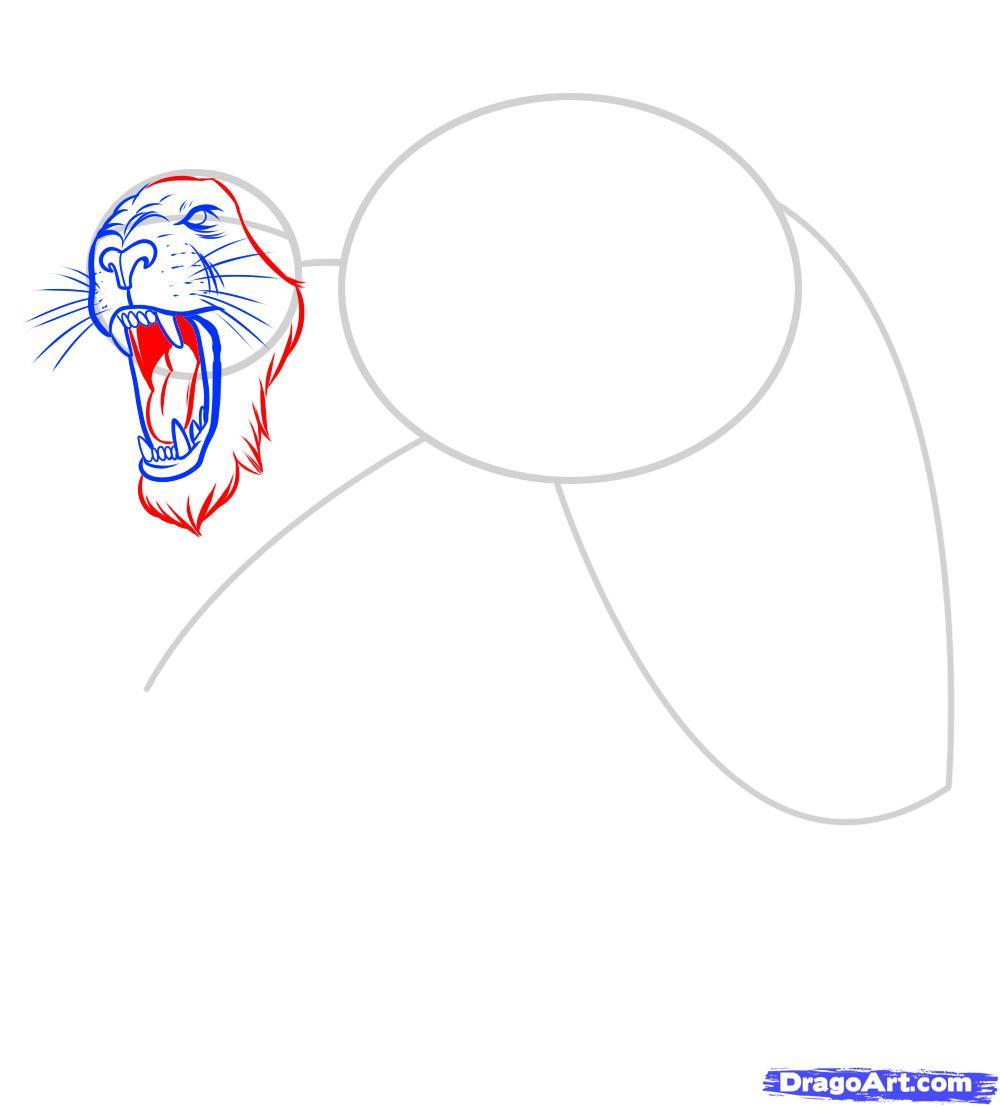 Рисуем татуировку льва - фото 6