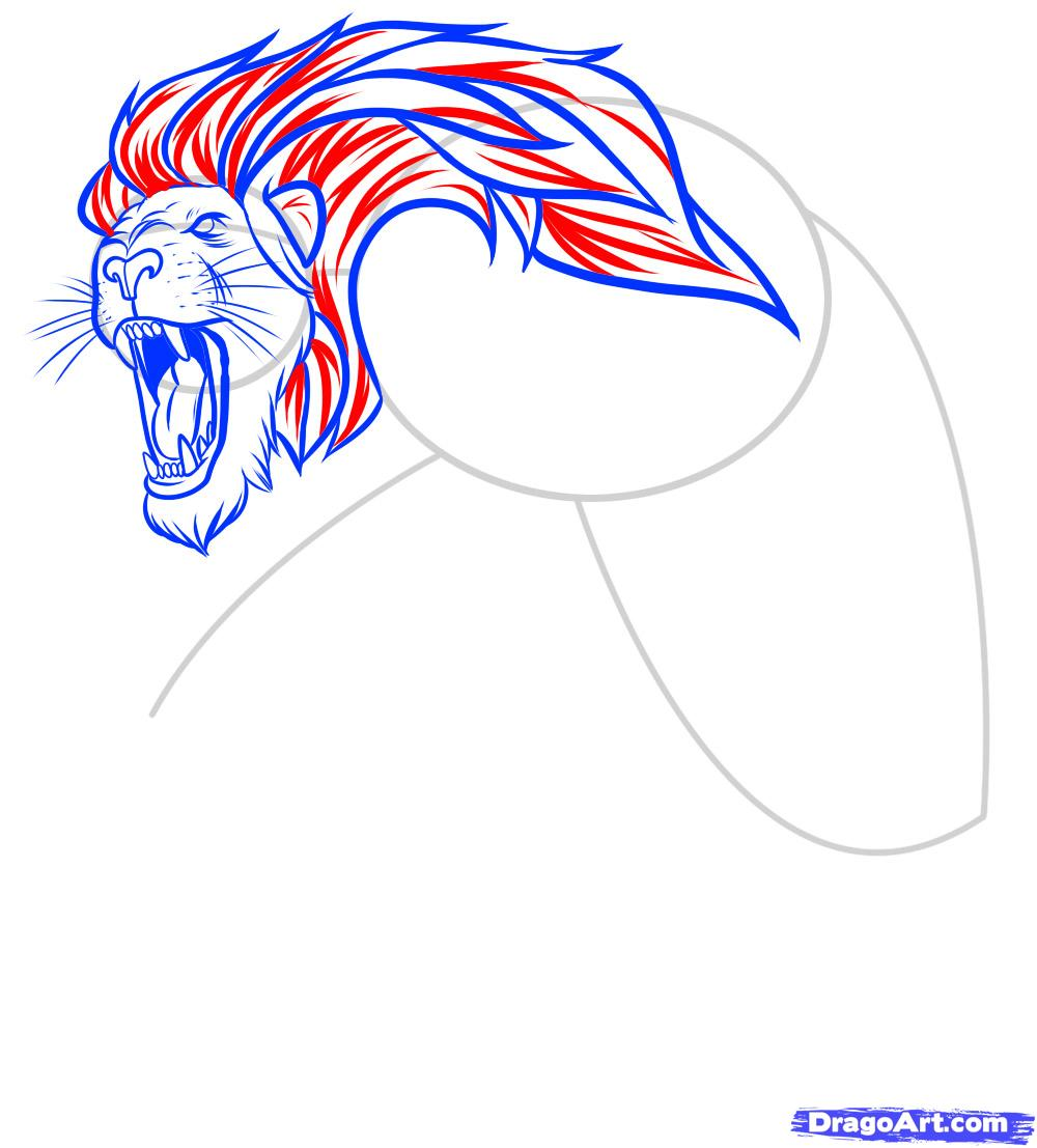 Рисуем татуировку льва - фото 8