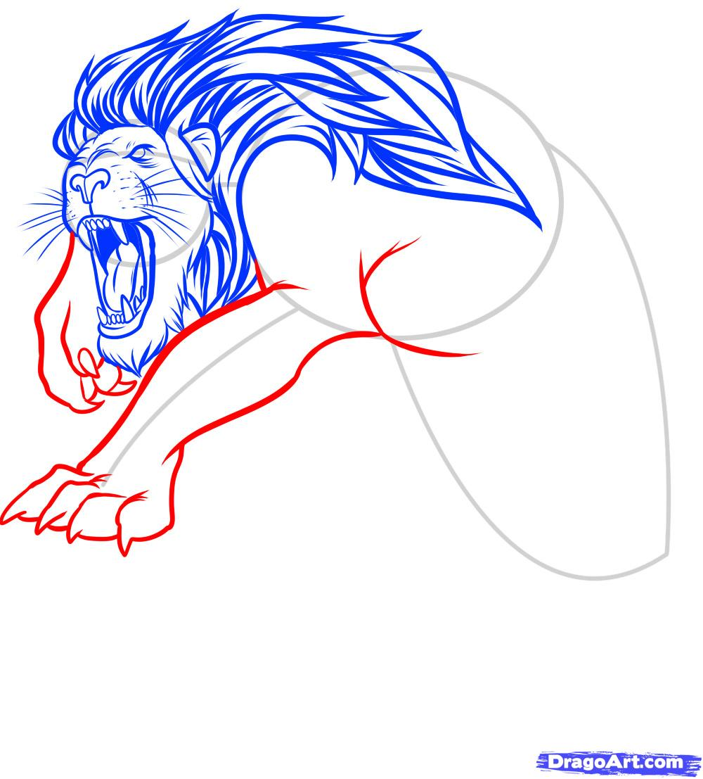 Рисуем татуировку льва - фото 9