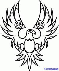 Фото татуировку орла карандашом на бумаге карандашом