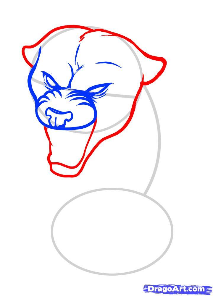 Рисуем татуировку пантеры - шаг 4
