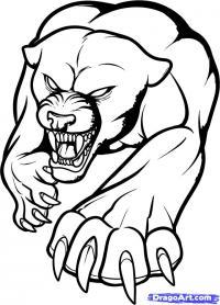 татуировку Пантеры карандашом