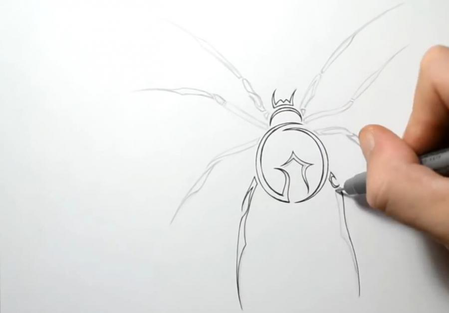 рисунки карандашом татуировки поэтапно