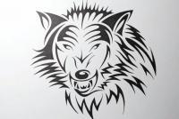 Фото татуировку злого волка шаг за шагом