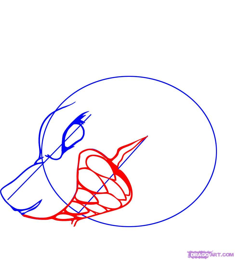 Рисуем татуировку злой акулы - шаг 3