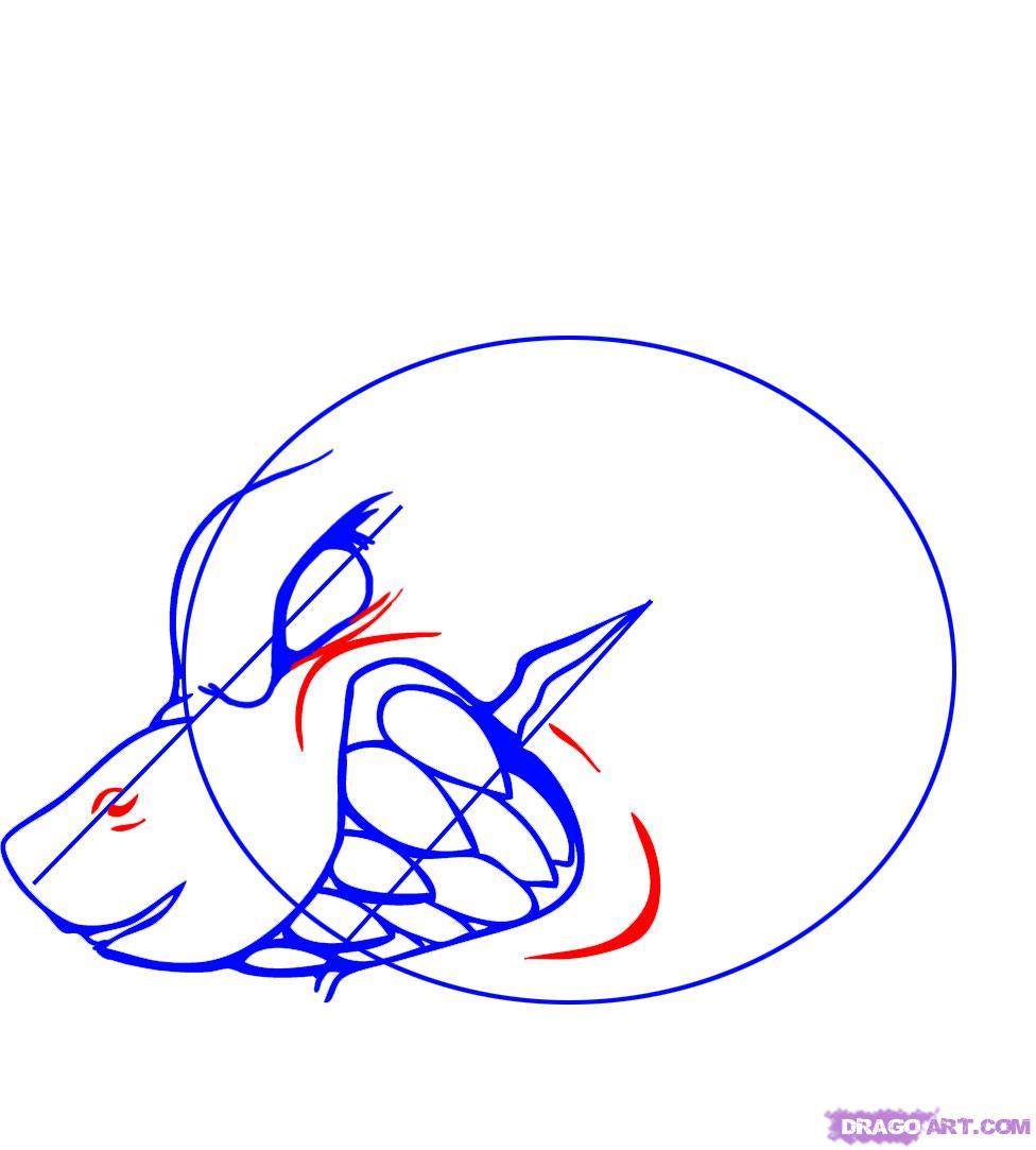 Рисуем татуировку злой акулы - шаг 4