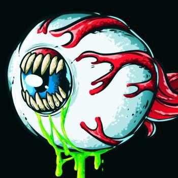 Рисуем зловещий  глаз