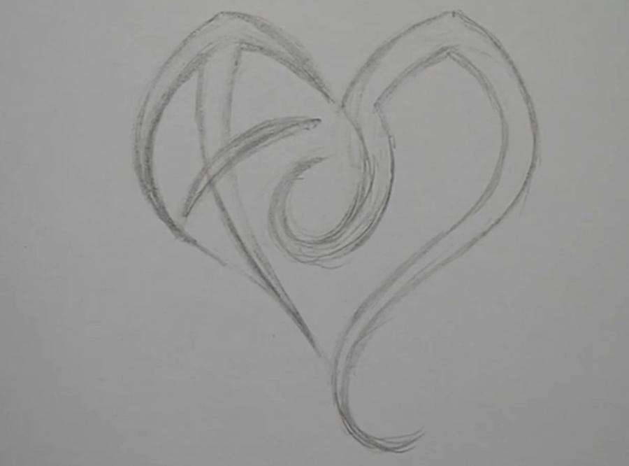 Рисуем знак зодиака стрельца и льва в виде сердца