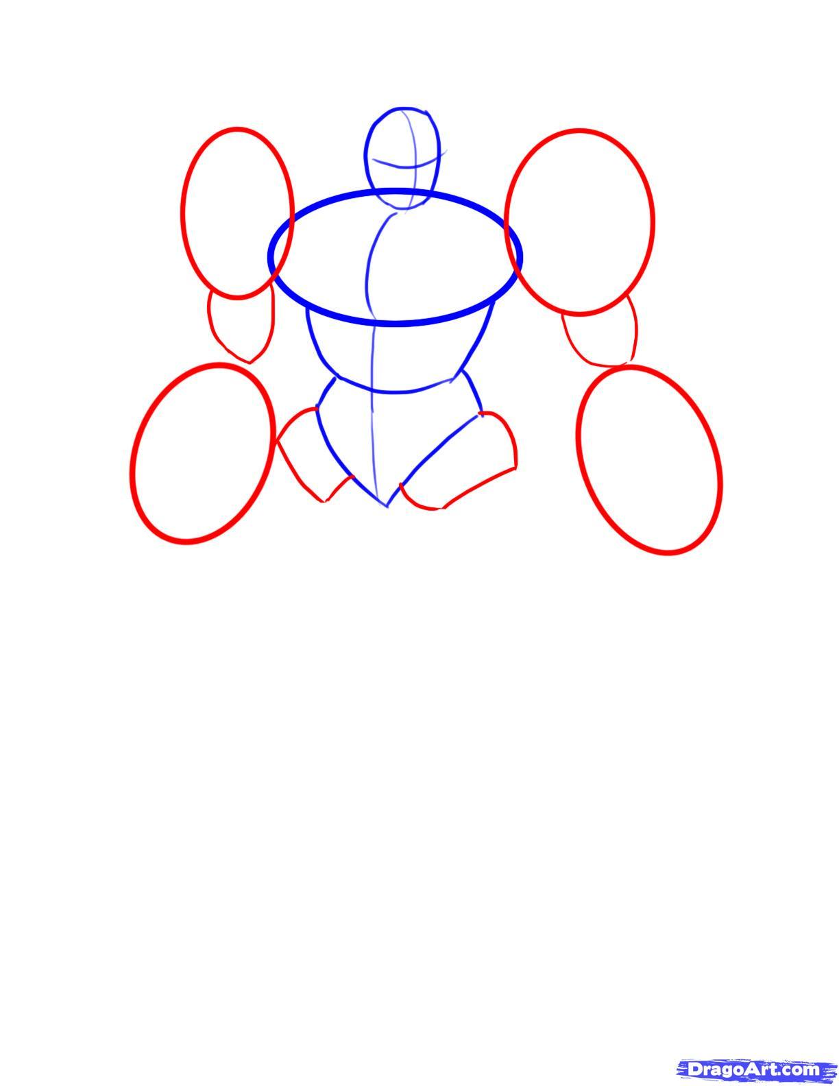 Рисуем трансформера Джаза - шаг 2