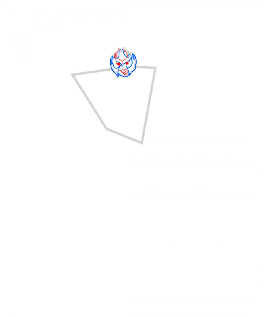 Рисуем Мегатрона   Для начинающих - шаг 3