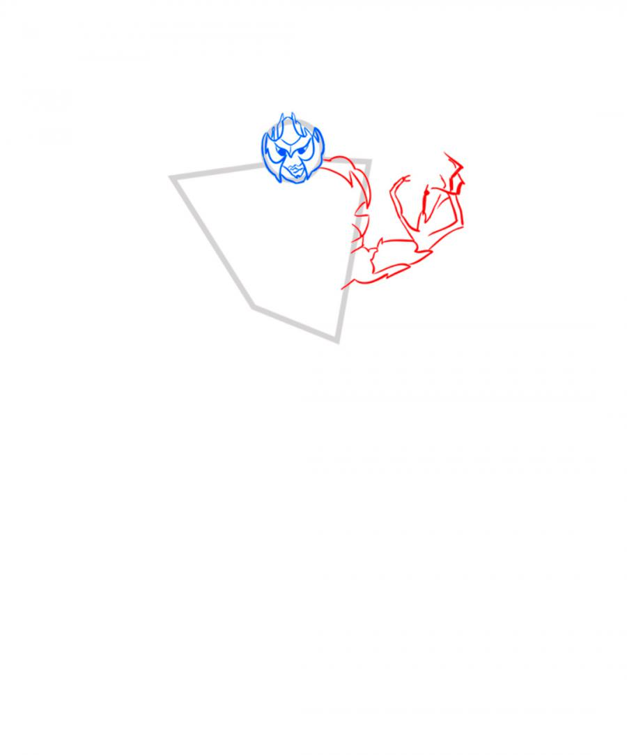 Рисуем десептикона Мегатрона - шаг 4