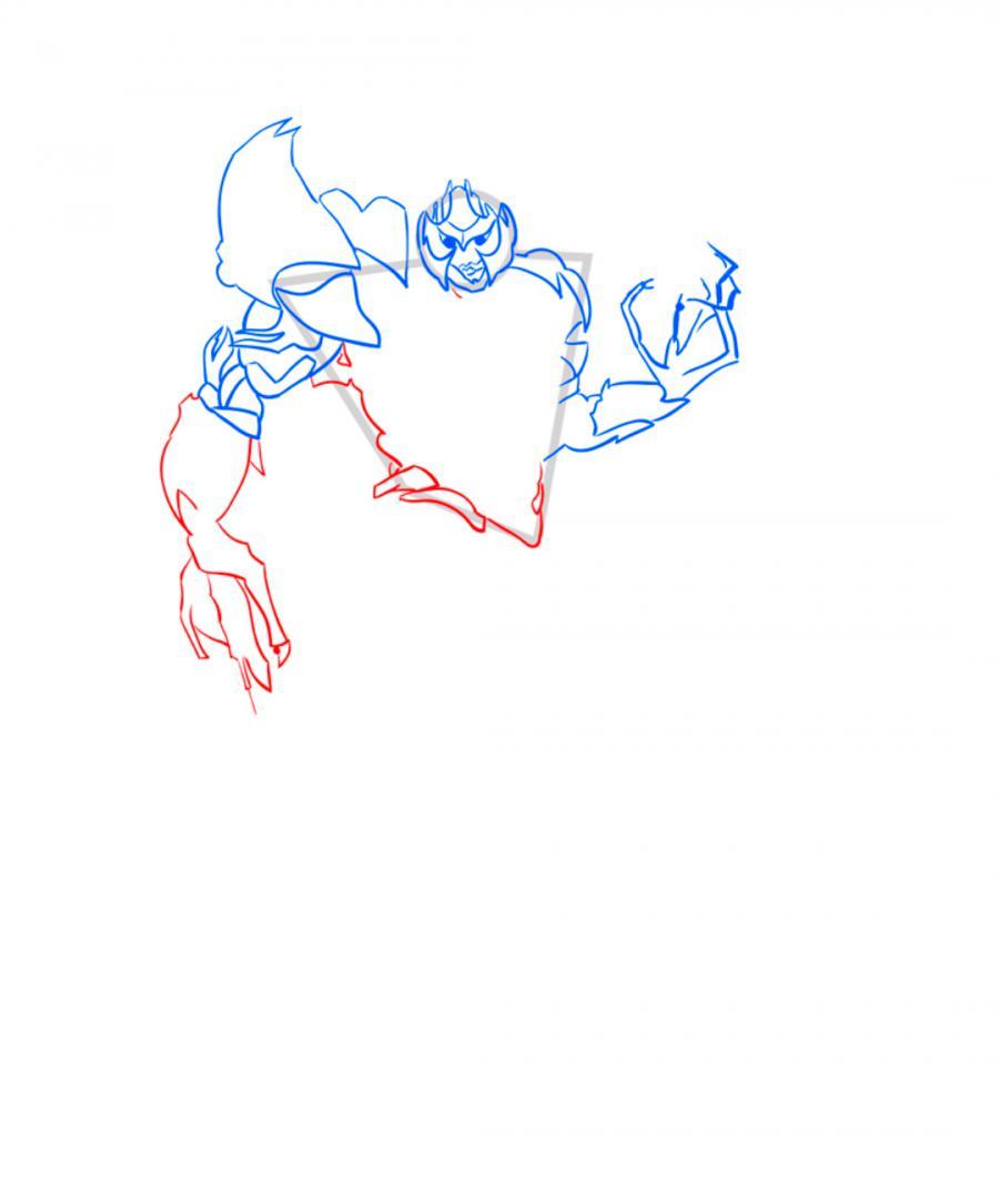 Рисуем десептикона Мегатрона - шаг 5
