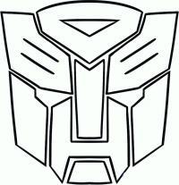 Фото логотип автоботов карандашом