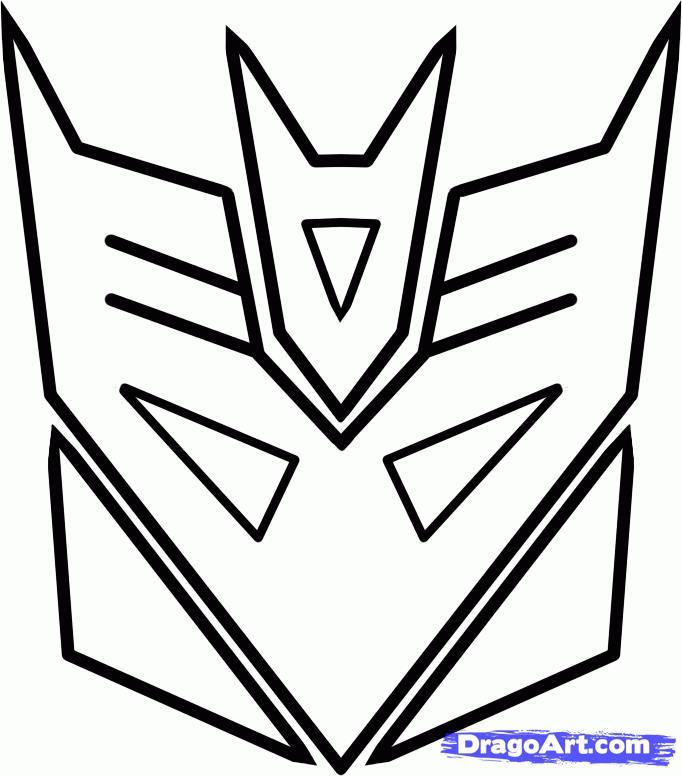 Рисуем логотип десептиконов