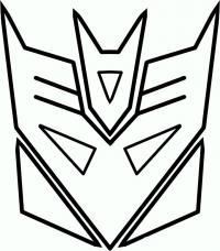 логотип десептиконов карандашом