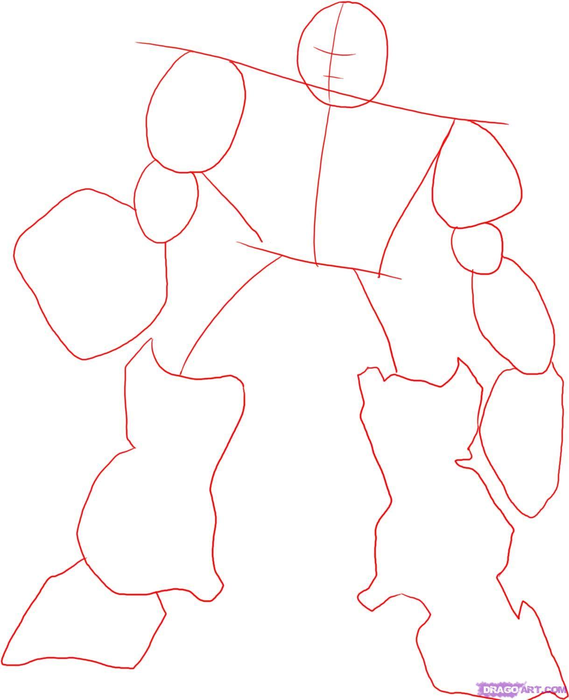 Рисуем десептикона Мегатрона - шаг 1