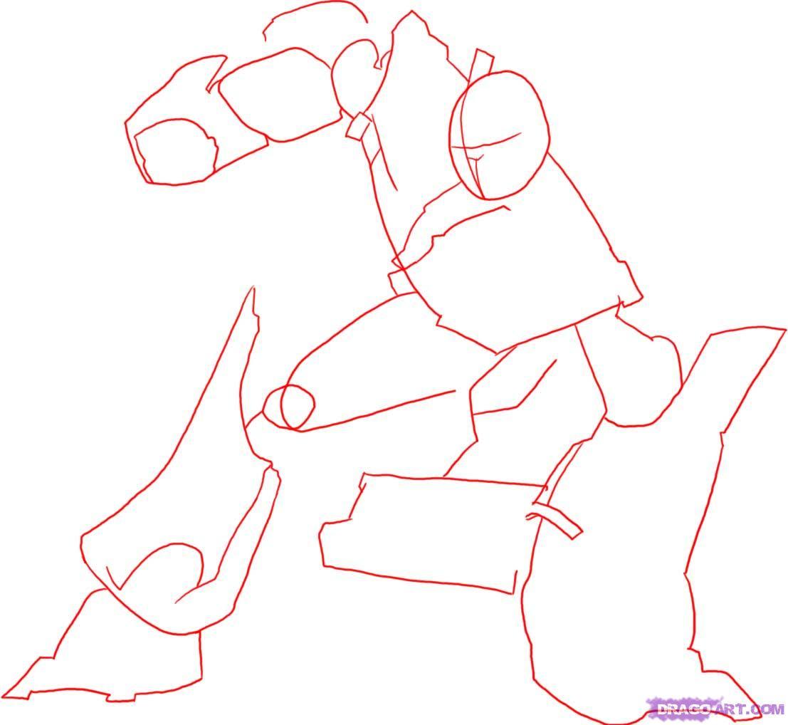 Как нарисовать Оптимуса Прайма