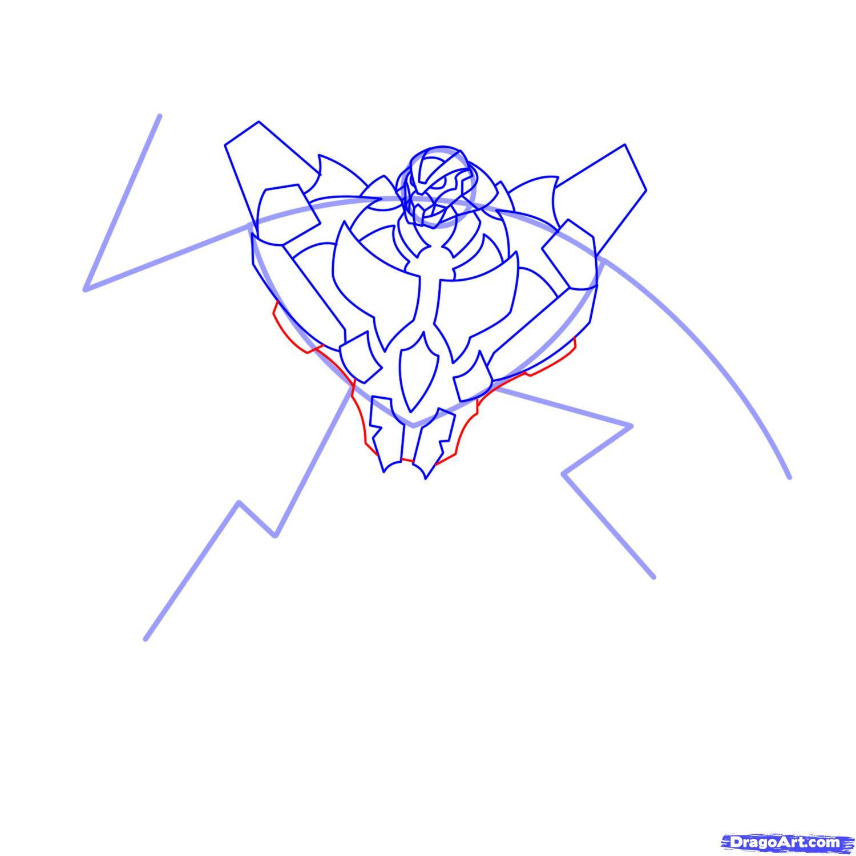 Рисуем трансформера Старскрима - шаг 10