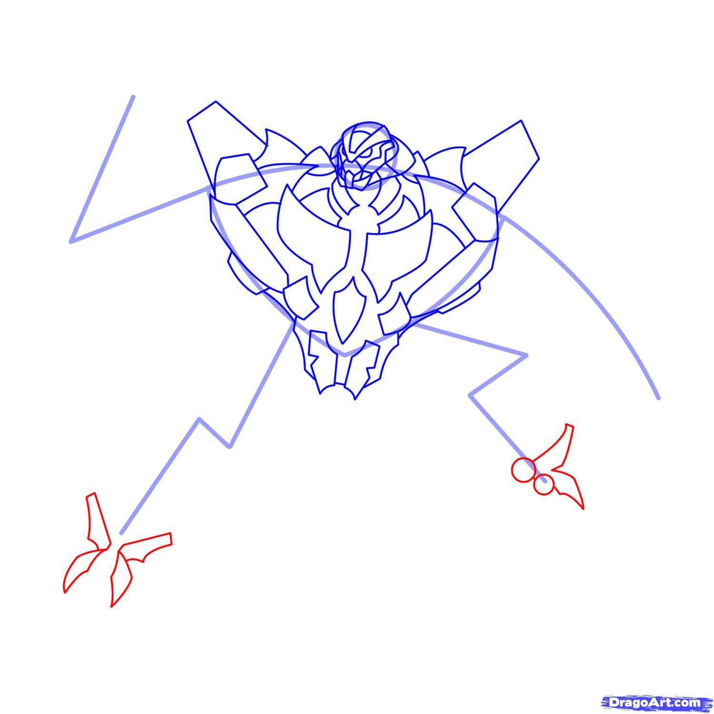 Рисуем трансформера Старскрима - шаг 11