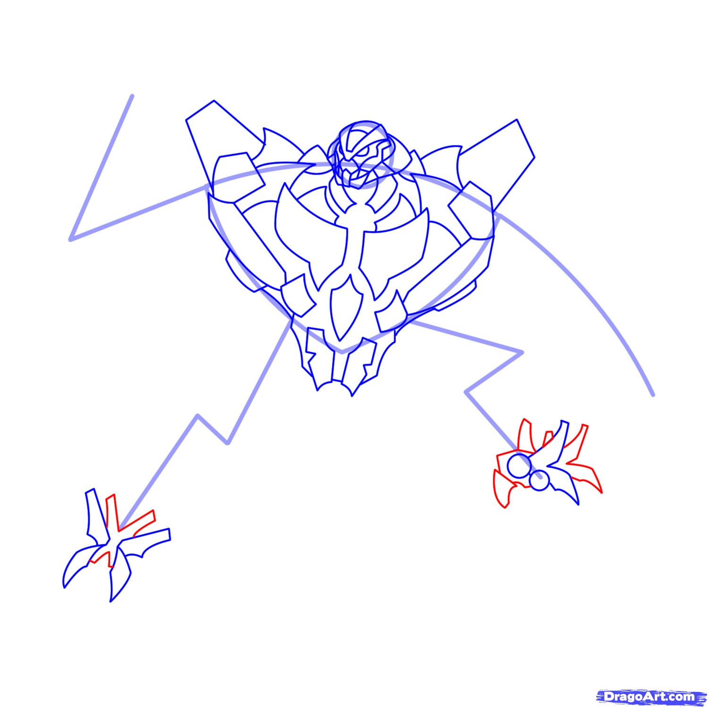 Рисуем трансформера Старскрима - шаг 12