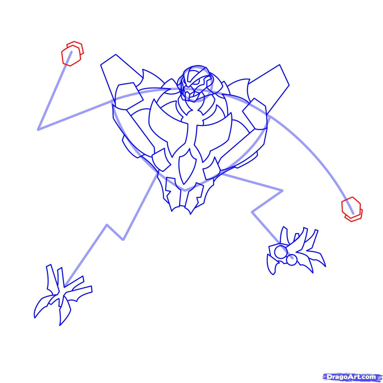 Рисуем трансформера Старскрима - шаг 13