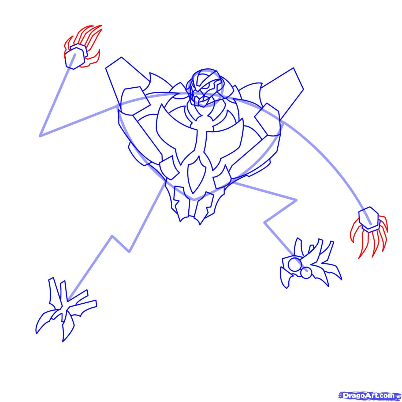 Рисуем трансформера Старскрима - шаг 14