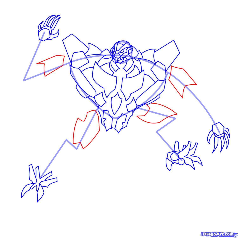 Рисуем трансформера Старскрима - шаг 15