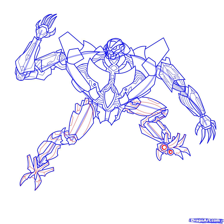 Рисуем трансформера Старскрима - шаг 21